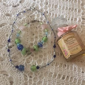 Handmade Beaded Necklace and Bracelet
